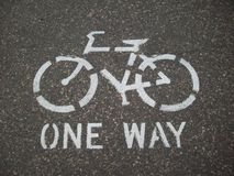 Biking Path Symbol Royalty Free Stock Photo