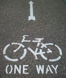 Biking Path Symbol Royalty Free Stock Photography