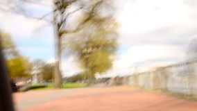 Biking POV Time Lapse Waterfront Royalty Free Stock Image