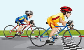 A biking race. Illustration of a biking race Stock Images