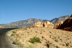Biking red rock canyon Royalty Free Stock Photos