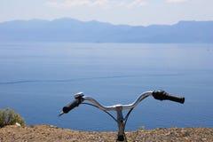 Biking rond Kos-Eiland royalty-vrije stock foto