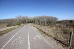 Biking route road Royalty Free Stock Image