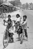 Biking scherza (Cambodja) Fotografia Stock Libera da Diritti