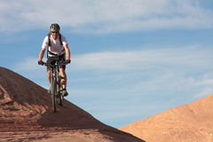 Biking Slickrock Stock Photography