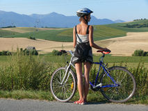 Biking in Slovakia Stock Photography