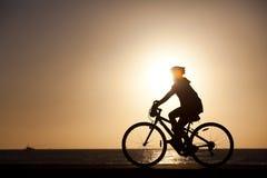 Biking sunset Royalty Free Stock Image