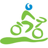 Biking symbol. Transportation symbol biking Royalty Free Stock Image