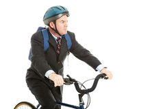 Biking to Work Royalty Free Stock Image