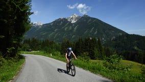 Biking in Totes Gebirge, Oberosterreich, Austria stock image