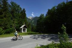 Biking in Totes Gebirge, Oberosterreich, Austria royalty free stock photo