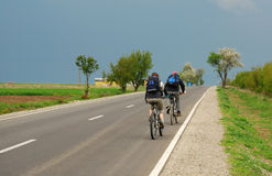 Biking trip Royalty Free Stock Image