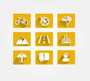 Biking vector icon Royalty Free Stock Photography