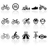 Biking vector icons set . EPS10. Stock Photo