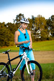 Biking woman Royalty Free Stock Photos