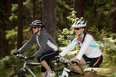 Biking women Stock Photo