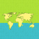 Bikingsachtergrond en kaart van de wereld Royalty-vrije Stock Fotografie