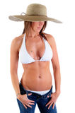 bikini ήλιος καπέλων Στοκ Εικόνες