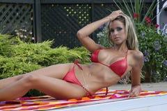 bikini γυναίκα Στοκ εικόνα με δικαίωμα ελεύθερης χρήσης