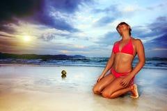 bikini γυναίκα Στοκ Φωτογραφίες