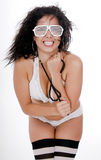 bikini θηλυκό όμορφο λευκό λω& Στοκ Εικόνα