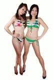 bikini κορίτσια δύο Στοκ εικόνα με δικαίωμα ελεύθερης χρήσης