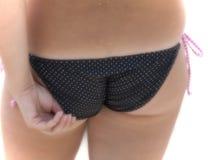 bikini κορίτσι εστίασης μαλα&kappa Στοκ φωτογραφία με δικαίωμα ελεύθερης χρήσης