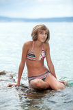 bikini κορίτσι εφηβικό Στοκ εικόνα με δικαίωμα ελεύθερης χρήσης