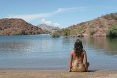 bikini κορίτσι προκλητικό Στοκ Φωτογραφίες