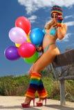 bikini κορίτσι προκλητικό Στοκ Εικόνες