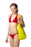 bikini κόκκινο κοριτσιών Στοκ φωτογραφία με δικαίωμα ελεύθερης χρήσης