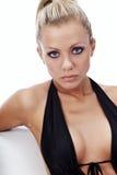 bikini μαύρη πρότυπη προκλητική φ&th Στοκ Εικόνες