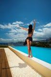 bikini μαύρο κορίτσι Στοκ Φωτογραφίες