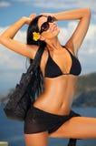 bikini μαύρο κορίτσι Στοκ φωτογραφία με δικαίωμα ελεύθερης χρήσης