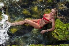 bikini μοντέλο μόδας Στοκ εικόνα με δικαίωμα ελεύθερης χρήσης