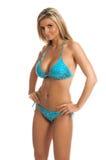 bikini μπλε τσέκι Στοκ Φωτογραφίες