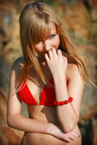 bikini νεολαίες κοριτσιών Στοκ Φωτογραφίες