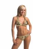 bikini ξανθός χρυσός Στοκ εικόνες με δικαίωμα ελεύθερης χρήσης