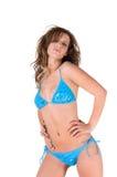 bikini ξανθός sassy Στοκ Εικόνες