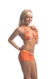 bikini ξανθό πορτοκάλι Στοκ Εικόνα