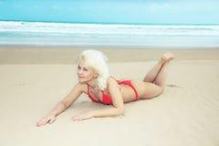 bikini παραλιών Στοκ Εικόνες