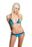 bikini που φορά τη γυναίκα Στοκ φωτογραφία με δικαίωμα ελεύθερης χρήσης