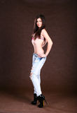 bikini χαριτωμένη κορυφή κοριτ&sig Στοκ Εικόνα