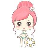 bikini χαριτωμένο κορίτσι Στοκ Εικόνα