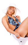 όμορφο bikini κορίτσι Στοκ Εικόνες