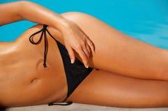 Bikini in actie Royalty-vrije Stock Afbeeldingen