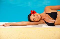 Bikini in actie Stock Fotografie