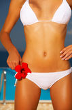 Bikini in action royalty free stock photography