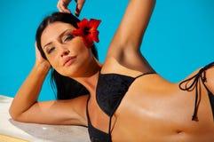Bikini in action Royalty Free Stock Photos