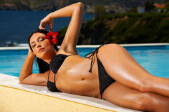 Bikini in action Stock Photo